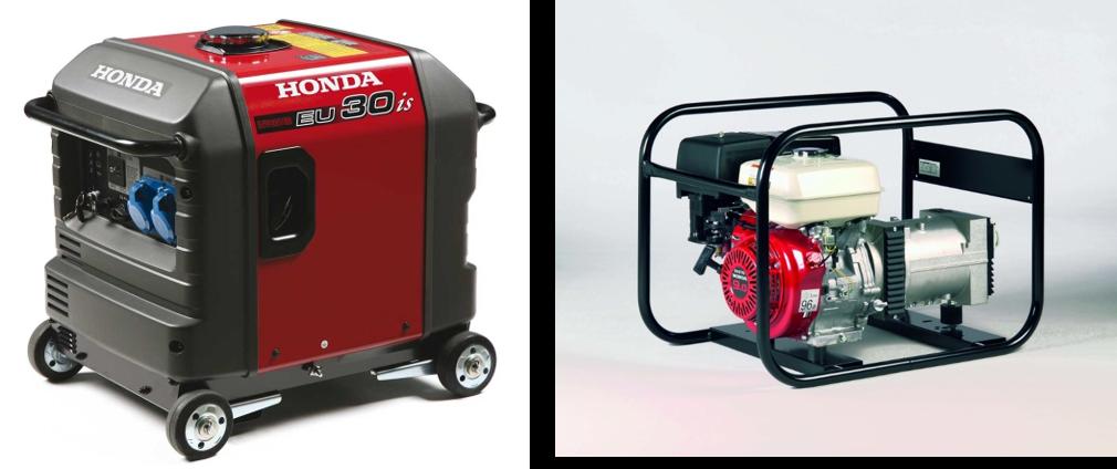 Generator benzine tot 12KVA huren