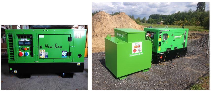 Generator diesel tot 100KVA huren
