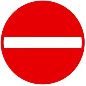 Verkeersbord C1 verboden richting
