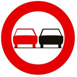 Verkeersbord C35 verboden in te halen