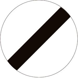 Verkeersbord C46 einde verbodsbepalingen