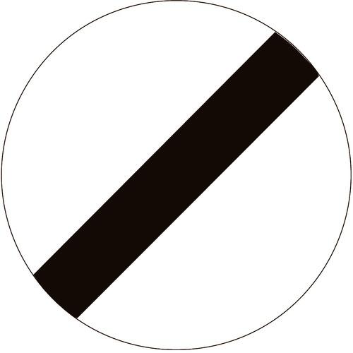 Foto Verkeersbord C46 einde verbodsbepalingen