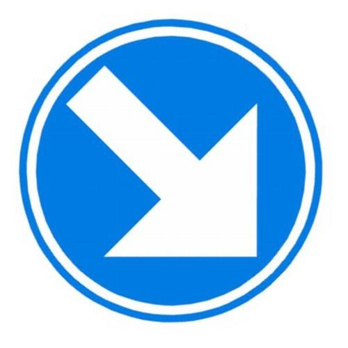 Foto Verkeersbord D1 blauwe pijl