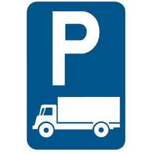 Verkeersbord E9c parkeren vrachtauto's