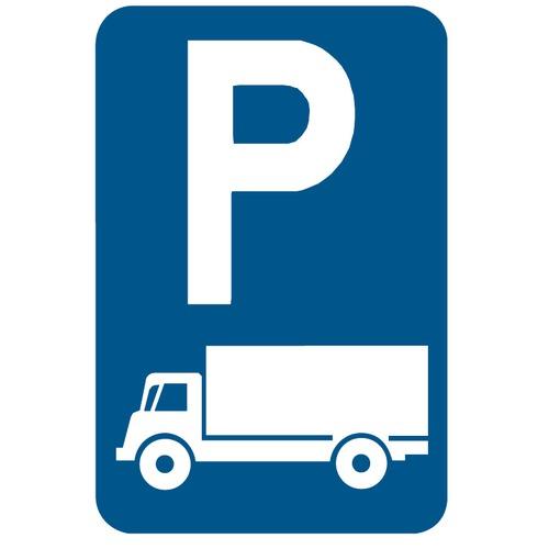 Foto Verkeersbord E9C parkeren werfwagens