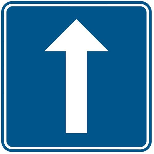 Foto Verkeersbord F19 éénrichtingsverkeer
