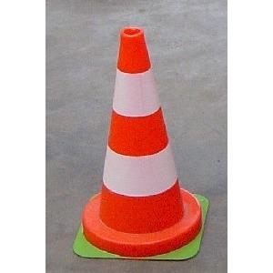 Verkeerskegel 50 cm oranje-wit