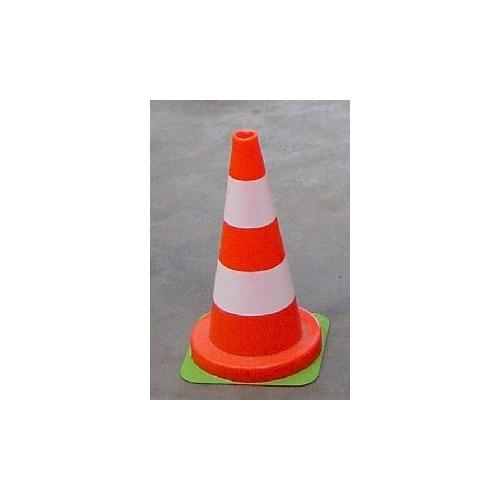 Foto Kegel 50 cm oranje-wit
