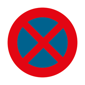 Verkeersbord E3 stilstaan/parkeerverbod
