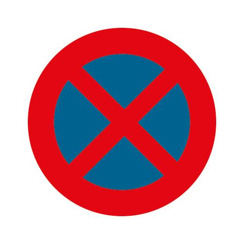 Panneau E3 arrêt/stationnement interdits