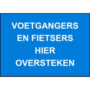 Verkeersbord fietsers+voetg. oversteken