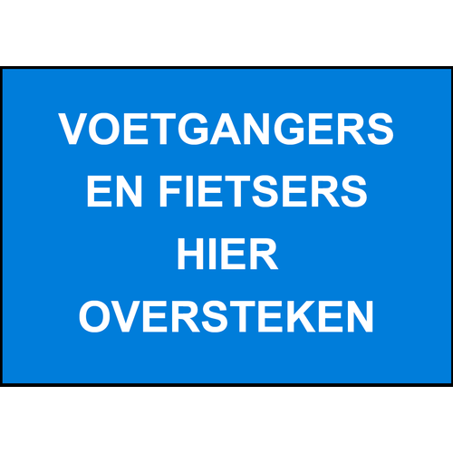 Foto Verkeersb Fietsers + voetg  hier overste
