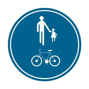 Verkeersbord D10 voetganger fietser
