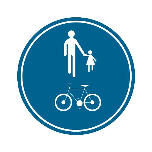 Foto Verkeersbord D10 voetganger fietser