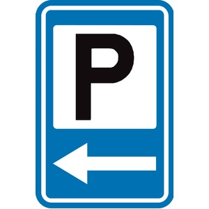 Verkeersbord F59b Parking naar Links