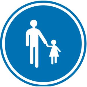 Verkeersbord D11 verplicht voetgangers