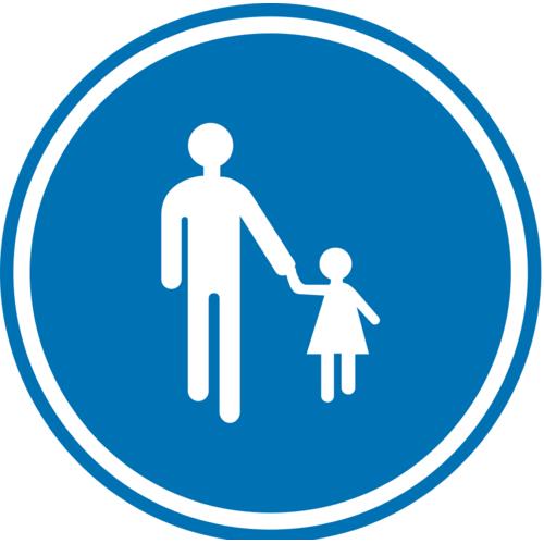 Foto Verkeersbord D11 verplichte weg voetgangers