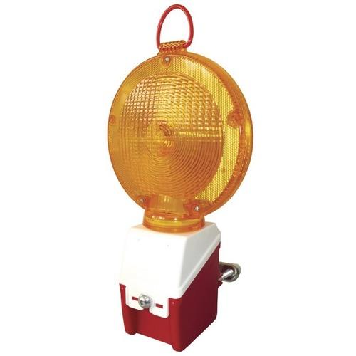 Foto Oranje knipperlicht op 6V batterij