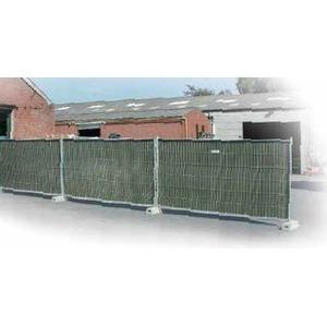Bâche pour barrière - noire 176 x 341 cm
