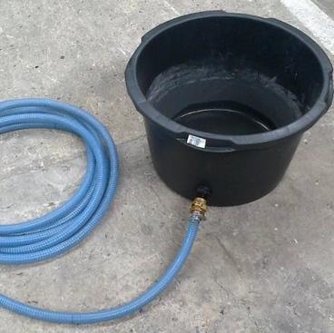 Waar moet het opgevangen water heen ?