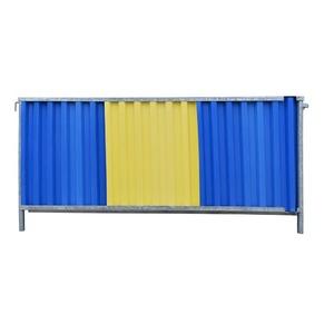 Gesloten hekwerk 2.2x1.18m blauw/geel