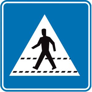 Verkeersbord F49 voetgangers oversteken