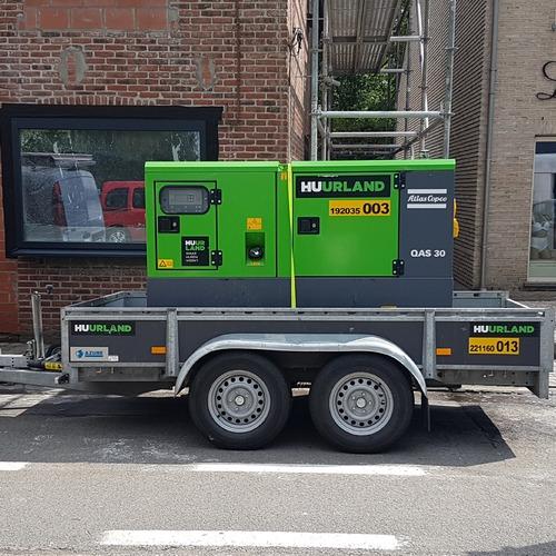 foto generator 35 kva op aanhangwagen