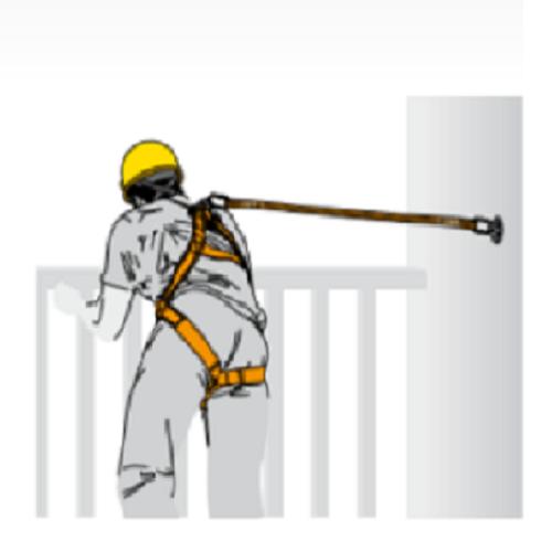 tekening harnas valbeveiliging - hoogwerker 01