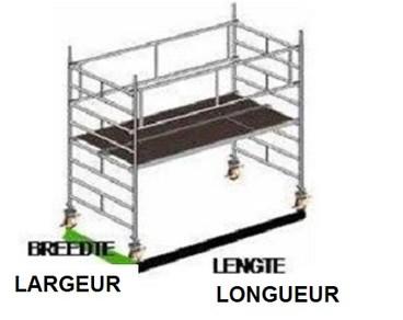 LOCATION D'ÉCHAFAUDAGES ROULANTS